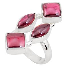 925 sterling silver 11.23cts natural red garnet ring jewelry size 6.5 p26090