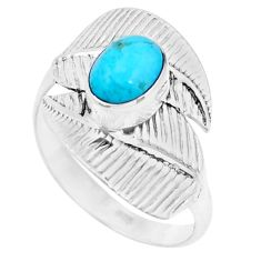 2.09cts green arizona mohave turquoise 925 silver solitaire ring size 9 p26763