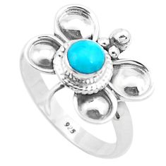 Green arizona mohave turquoise silver butterfly solitaire ring size 8.5 p26765