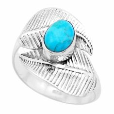 2.09cts green arizona mohave turquoise 925 silver solitaire ring size 9 p26766