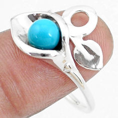 2.41cts blue sleeping beauty turquoise silver adjustable ring size 9.5 p27184