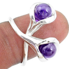 5.12cts natural purple amethyst 925 sterling silver ring jewelry size 5 p27191
