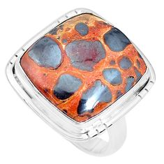 925 silver 15.97cts natural brown bauxite solitaire ring jewelry size 8 p27884