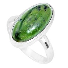 4.93cts natural green swiss imperial opal silver solitaire ring size 8 p28394