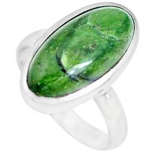 5.16cts natural green swiss imperial opal silver solitaire ring size 7 p28397