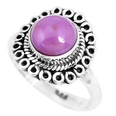 3.32cts natural purple phosphosiderite 925 silver solitaire ring size 7 p28977