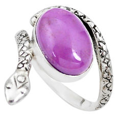 925 silver 6.82cts natural phosphosiderite snake solitaire ring size 9 p29872
