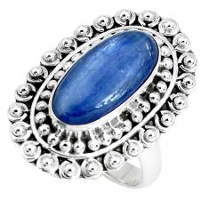 925 sterling silver 5.98cts natural blue kyanite solitaire ring size 8 p30285