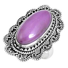 9.47cts natural purple phosphosiderite 925 silver solitaire ring size 6.5 p30303