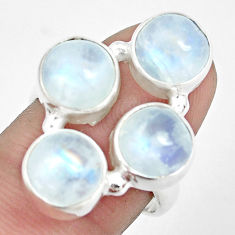 12.70cts natural rainbow moonstone 925 sterling silver ring size 8 p32047