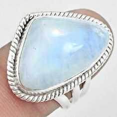 17.36cts natural rainbow moonstone 925 sterling silver ring size 7 p32072