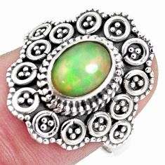 925 sterling silver 2.01cts natural ethiopian opal solitaire ring size 8 p32130
