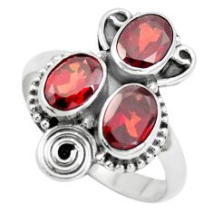 4.69cts natural red garnet 925 sterling silver ring jewelry size 8.5 p5748