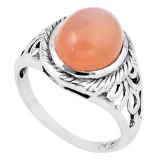 925 sterling silver 5.36cts natural yellow moonstone solitaire ring size 7 p6375