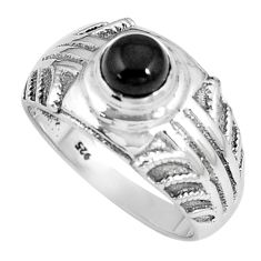 925 sterling silver 1.42cts natural black onyx solitaire ring size 8 p8068
