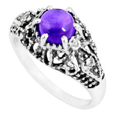 2.78cts natural purple amethyst topaz 925 silver solitaire ring size 7 p8103