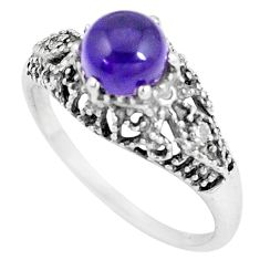 925 silver 2.95cts natural purple amethyst topaz solitaire ring size 8.5 p8104