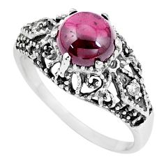 925 silver 3.13cts natural red garnet topaz solitaire ring jewelry size 7 p8109