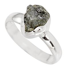 3.87cts natural certified diamond rough 925 sterling silver ring size 8 p90893