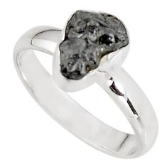 3.60cts natural certified diamond rough 925 sterling silver ring size 7.5 p90939