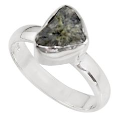 3.60cts natural certified diamond rough 925 sterling silver ring size 6.5 p90940