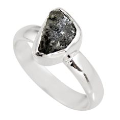 3.37cts natural certified diamond rough 925 silver solitaire ring size 6 p92950
