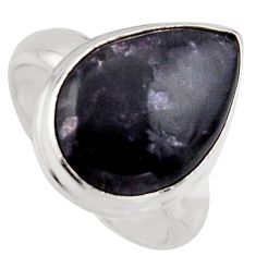 10.37cts natural purple lepidolite 925 silver solitaire ring size 6.5 p95142