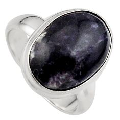 7.33cts natural purple lepidolite 925 silver solitaire ring size 6.5 p95160