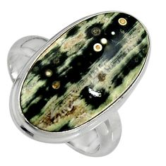 13.55cts natural ocean sea jasper 925 silver solitaire ring size 7 p95222