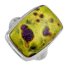 16.70cts natural atlantisite stichtite-serpentine silver ring size 8.5 p95337