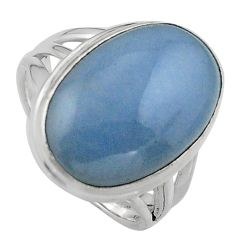 12.83cts natural blue angelite 925 silver solitaire ring jewelry size 7 p95367