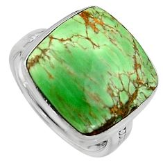 13.71cts natural green variscite 925 silver solitaire ring jewelry size 9 p95382