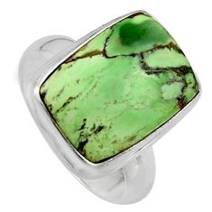 9.10cts natural green variscite 925 silver solitaire ring jewelry size 7 p95383