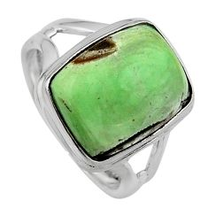 925 silver 6.56cts natural green variscite solitaire ring jewelry size 7 p95386