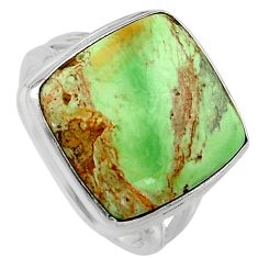 14.41cts natural green variscite 925 silver solitaire ring size 8.5 p95387