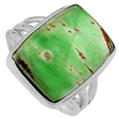 12.36cts natural green variscite 925 silver solitaire ring jewelry size 8 p95394