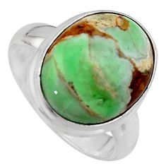 925 silver 10.82cts natural green variscite oval solitaire ring size 6.5 p95395