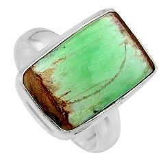 8.22cts natural green variscite 925 silver solitaire ring jewelry size 7 p95396