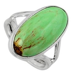 9.04cts natural green variscite 925 silver solitaire ring jewelry size 7 p95398