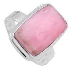 8.22cts natural pink opal 925 sterling silver solitaire ring size 7 p95410