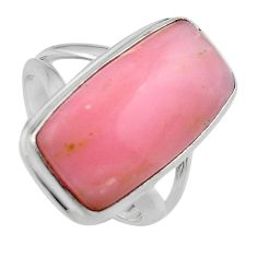 925 sterling silver 9.39cts natural pink opal solitaire ring size 7 p95419