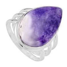 14.12cts natural purple tiffany stone 925 silver solitaire ring size 7.5 p95453