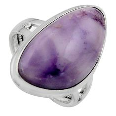 15.16cts natural purple tiffany stone 925 silver solitaire ring size 8 p95460
