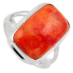 10.12cts red copper turquoise 925 silver solitaire ring jewelry size 6.5 p95546