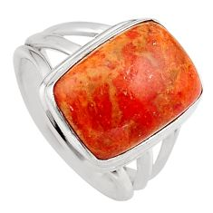 7.12cts red copper turquoise 925 silver solitaire ring jewelry size 7 p95556