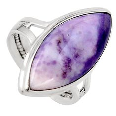 13.27cts natural purple tiffany stone 925 silver solitaire ring size 8.5 p95621