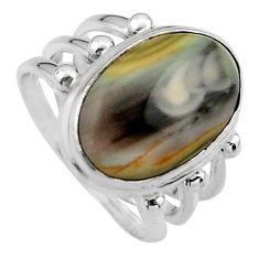 925 silver 10.02cts natural brown imperial jasper solitaire ring size 7 p95668