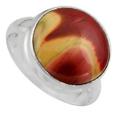 925 silver 10.02cts natural brown imperial jasper solitaire ring size 7 p95674