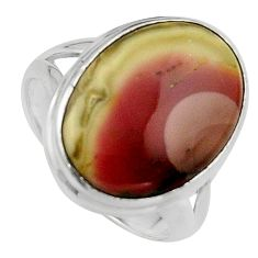 13.70cts natural brown imperial jasper 925 silver solitaire ring size 7.5 p95675