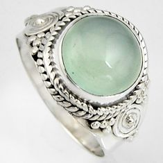 4.91cts natural aqua chalcedony 925 silver solitaire ring jewelry size 7 p95760